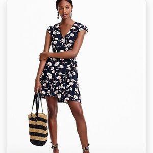 J. Crew Mercantile Faux-Wrap Mini Dress